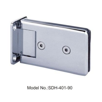 90 Degree Rectangle Shape with Bevel Edged Shower Door Hinges Glass to Wall[SDH-401-90]