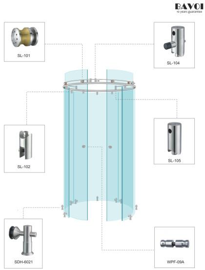 Wheel-Shower sliding System Manufacturer[SL-101,02,104,105,SDH6021,WPF-09A]