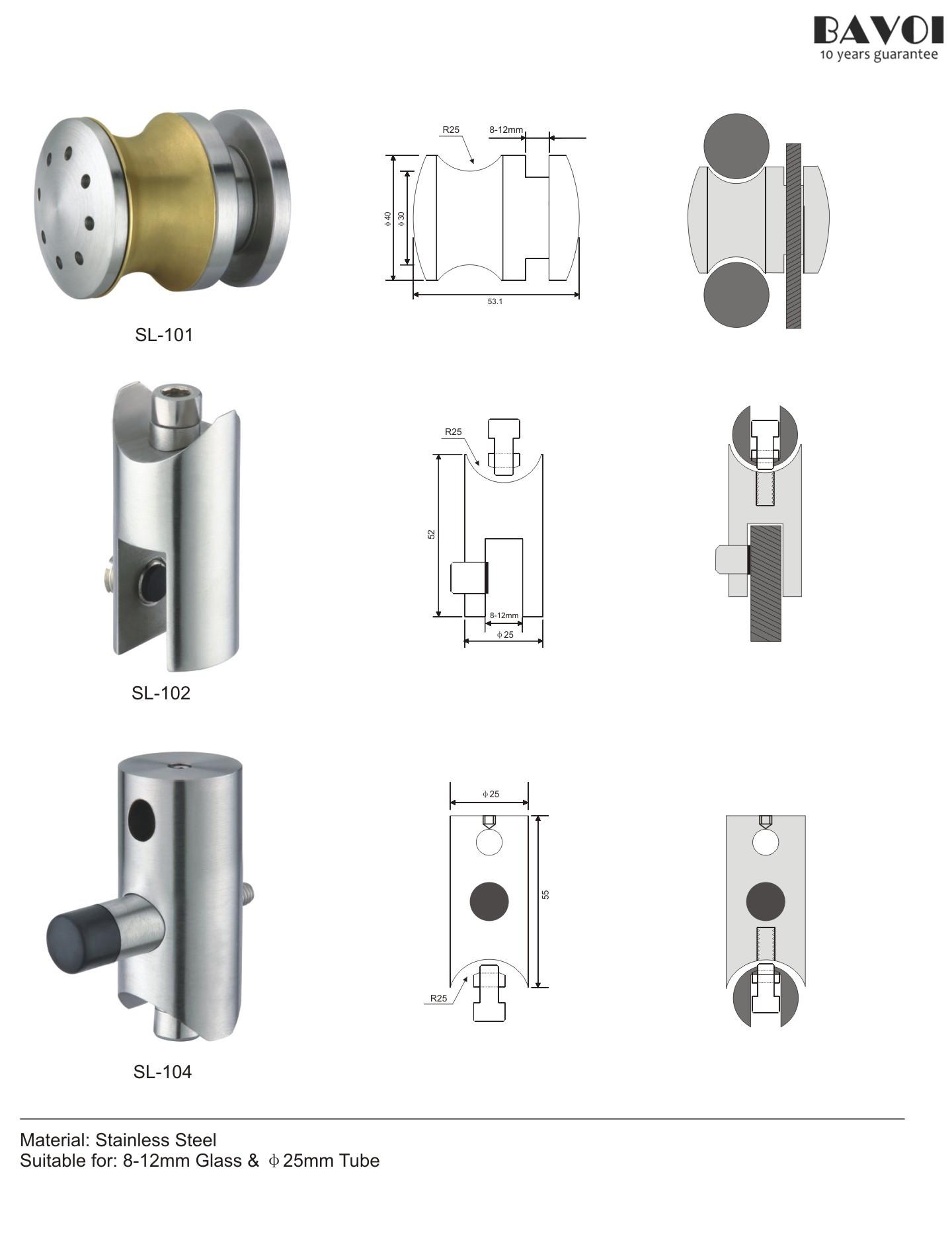 wheel shower sliding system rolling parts manufacture r sl 101 sl 102