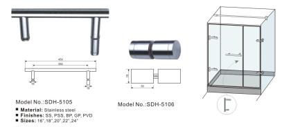 Bathroom pull handle,shower door knob manufacturer [SDH-5105][SDH-5106]