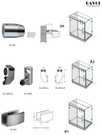 Vinna-درب کشویی تولید کننده جزء کشویی چوب پنبه [SL-002] [SL-003A-R] [SL-003B] [SL-004]