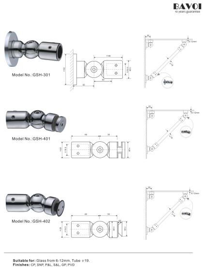 Glass Shelf Chat Manufacturer [GSH-301, GSH-401, GSH-402]