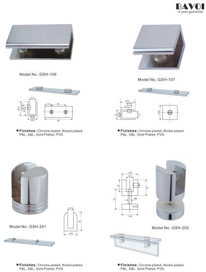 Brass Glass Shelf Sec.XV Chat di muru 6-12mm [GSH-201, GSH-202, GSH-106, GSH-107]