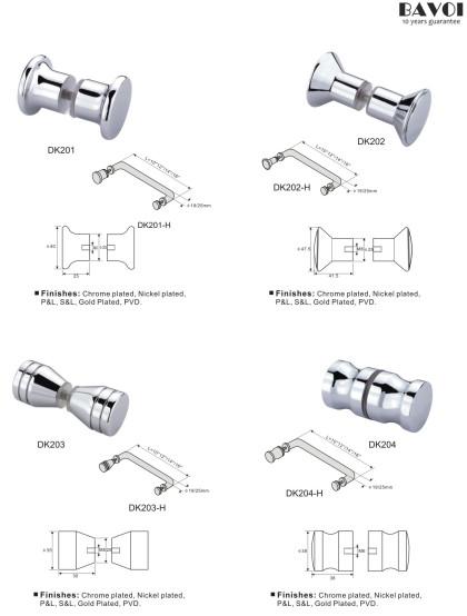 Shower Door Knob Manufacturers for bathroom[DK201,DK202,DK203,DK204]