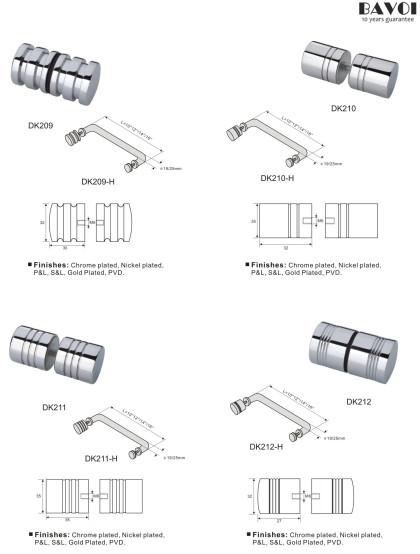 Glass door knob Handle Manufacturer for bathroom[DK209,210,211,212]
