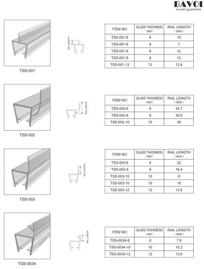 شفاف تولید نوار آب بندی حمام [TSS-001,002,003,003A]