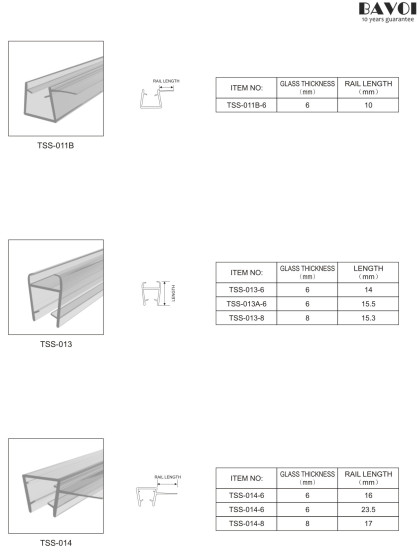 Bathroom Translucent sealing strip manufacturer [TSS-011B,013,014]
