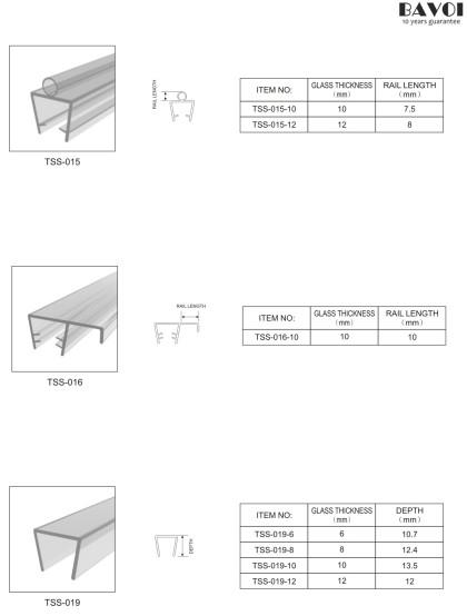 Cheap Bathroom Translucent sealing strip manufacturer [TSS-015,016,019]