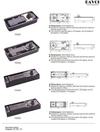 طبقه پچ بهار اتصالات تولید کننده کارخانه [FS001، FS002، FS003، FS004]