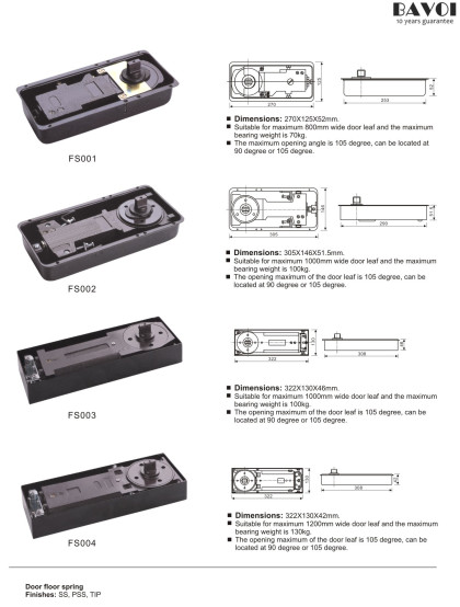 Floor spring Patch Fitting Manufacturer factory[FS001,FS002,FS003,FS004]