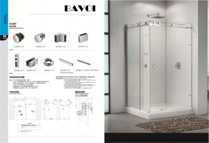 304 stainless steel sliding door system manufacturer[SLA001]
