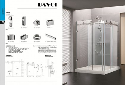 304 stainless steel shower door system manufacturer[SLA004]