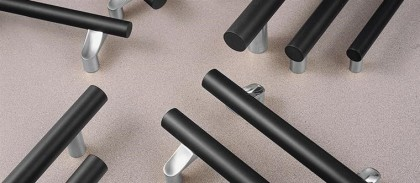 Durable black hard coat anodized grips