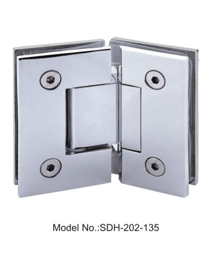 135 Degree Gold Plated Shower Door Hinges with Sharp Angle Glass to Glass[SDH-202-135]