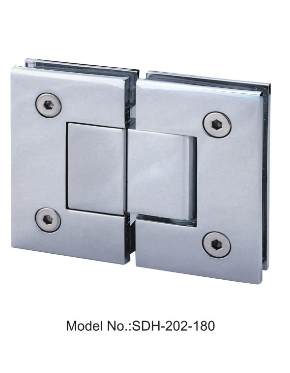 180 degree nickel plated shower door hinge glass to glass