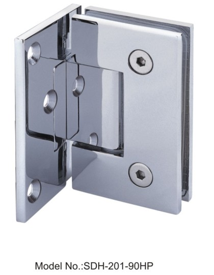 90 Degree Glass to Wall Shower Door Hinges with half plate[SDH-201-90HP]