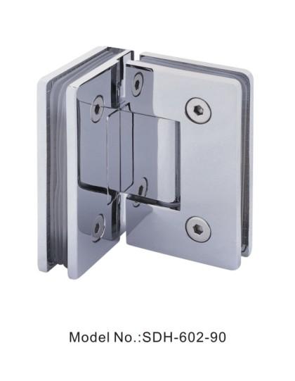 90 Degree Glass to Glass Shower Door Hinges for 800mm wide Glass Door[SDH-602-90]