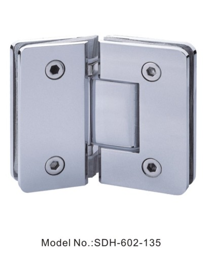 135 Degree Shower Door Hinges Glass to Glass Square with Radius[SDH-602-135]