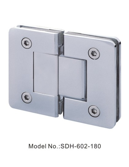 180 Degree Shower Door Hinges Square Shape with Bevel Edged Glass to Glass[SDH-602-180]