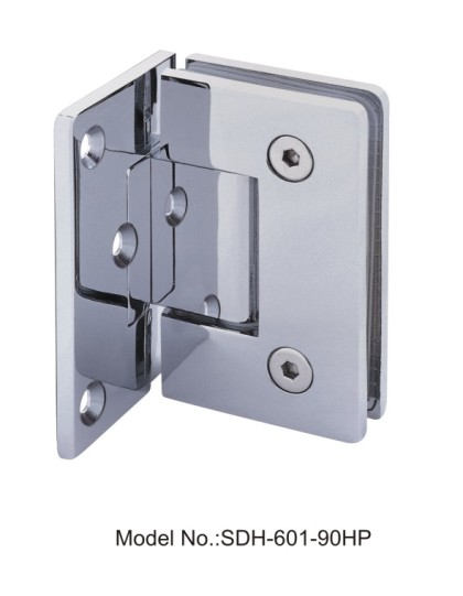90 Degree PVD Shower Door Hinges Glass to Wall with Half Plate[SDH-601-90HP]
