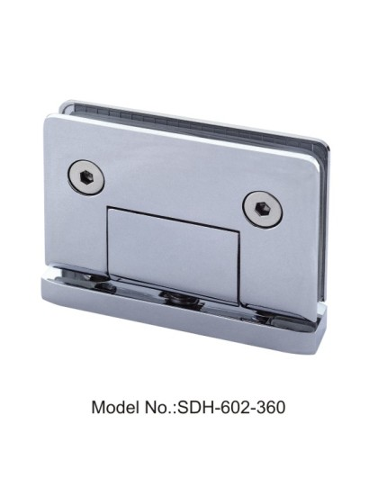 360 Degree Glass-to-Curb Bottom Mount Shower Door Pivot Hinges with Radius[SDH-602-360]