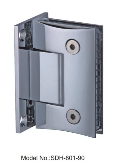 90 Degree Round Bevel Edged Style Shower Door Hinges Glass to Wall[SDH-801-90]