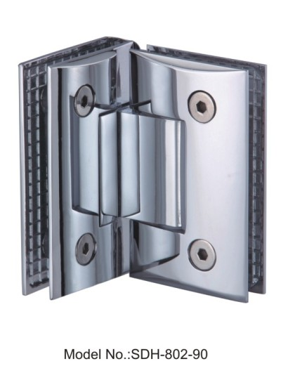90 Degree Glass to Glass Mounted Shower Door Hinges For Tempered Glass[SDH-802-90]