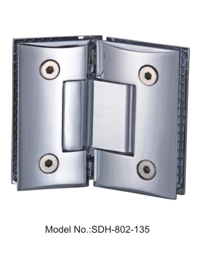 135 Degree Shower Door Hinges For 5/16″ to 1/2″ Tempered Safety Glass[SDH-802-135]
