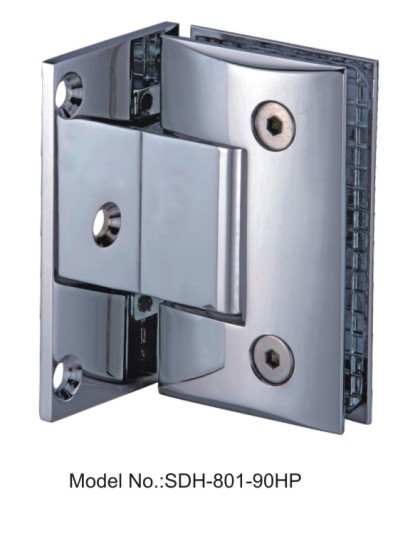 90 Degree Oil Rubbed Bronze Shower Door Hinges With Full Back Plate[SDH-801-90HP]