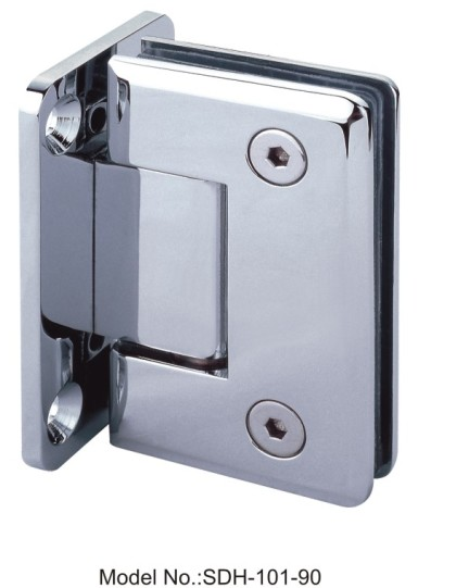 90 Degree BEVELED Edge Chrome plated Shower Door Hinges Solid Brass[SDH-101-90]