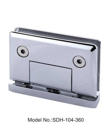360 Degree Chrome Glass-to-Curb Bottom Mount Shower Door Pivot Hinge[SDH-104-360]