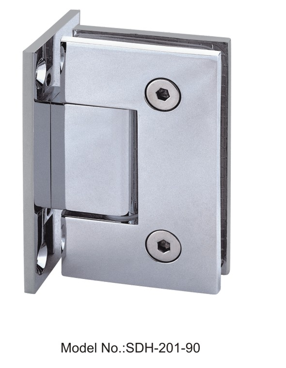 90 Degree Square Edged Shower Door Hinge Glass To Wall For 50KG Door SDH 201 90