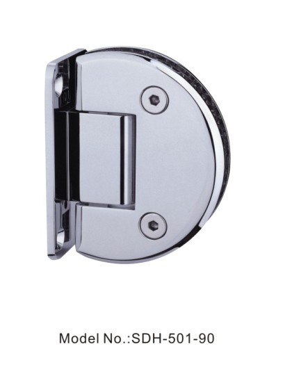 90 Degree Fan-Shaped Glass to Wall Shower Door Hinges For 50kg Glass Door[SDH-501-90]