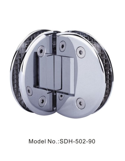 90 Degree Adjustable Shower Door Hinges Glass Wall to Glass Wall Fan Shaped[SDH-502-90]