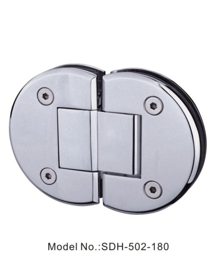 180 Degree Polished Chrome Shower Door Hinges Glass to Glass Mount Pivot[SDH-502-180]