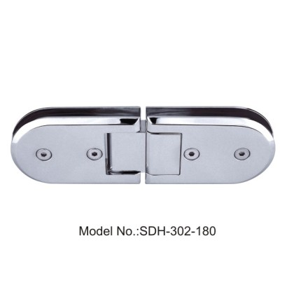 180 Degree Shower Door Hinges for Hardened Glass Wall and Glass Door[SDH-302-180]