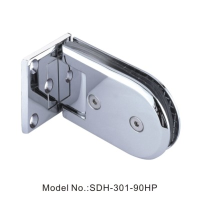 90 Degree Shower Door Hinges with Half Plate Glass to Concrete Wall[SDH-301-90HP]