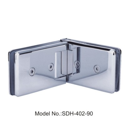 90 Degree Square with Bevel Edged Shower Door Hinge Glass to Glass[SDH-402-90]