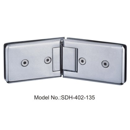 135 Degree Shower Door Hinges Rectangle with Bevel Edged Glass to Glass[SDH-402-135]