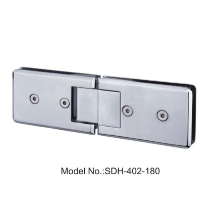 180 Degree 108x70mm Shower Door Hinges Glass to Glass Double Action Spring[SDH-402-180]