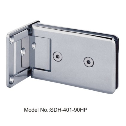 90 Degree Shower Door Hinges with Half Plate Single Action Spring [SDH-401-90HP]