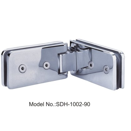 90 Degree Square Shower Door Hinges Glass to Glass Imported Brass[SDH-1002-90]