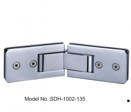135 Degree 224.5x60mm Shower Door Hinges Glass to Glass Chrome Plated[SDH-1002-135]