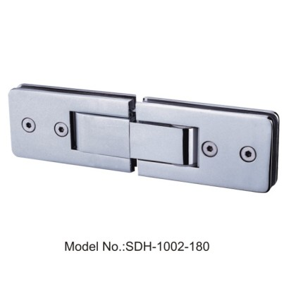 180 Degree Oblong Shape Shower Door Hinges 50kg Glass to Glass[SDH-1002-180]