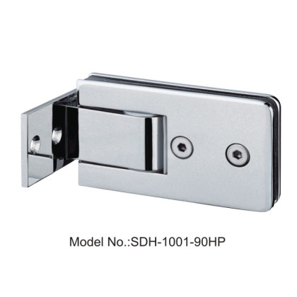90 Degree Brass Shower Door Hinges with Half Plate Glass to Wall[SDH-1001-90HP]