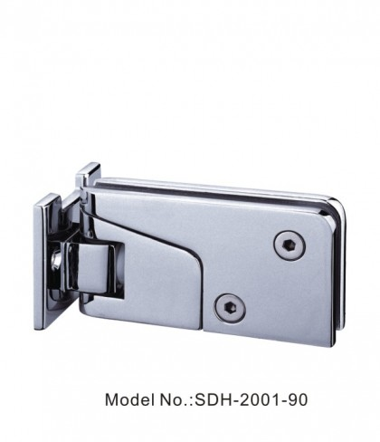 90 Degree Shower Door Hinges with Half Plate Glass to Wall without Sealing[SDH-2001-90]