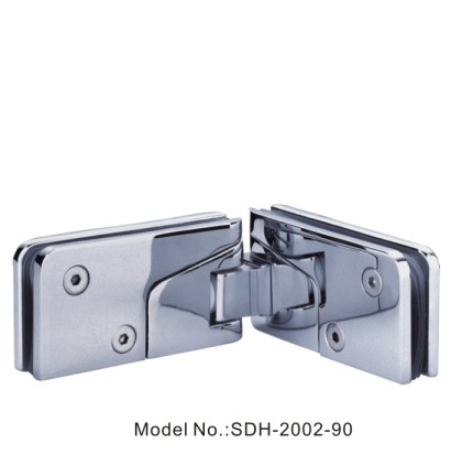 90 Degree Shower Door Hinges with Lip-shaped Sealing Door to Glass Panel[SDH-2002-90]
