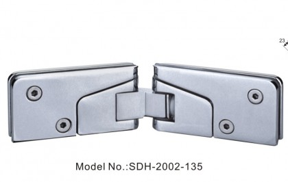 Shower Door Hinges for Installation of Door to Glass Panel at 135 Degree[SDH-2002-135]