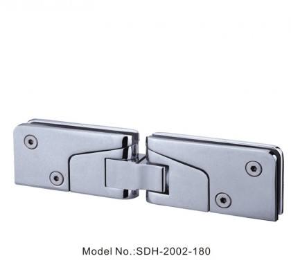 180 Degree Shower Door Hinge for Door to Fix Glass Panel at 180[SDH-2002-180]