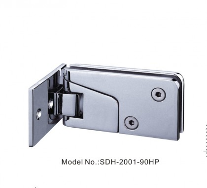 90 Degree Shower Door Hinges with Half Plate close at 25 Degree[SDH-2001-90HP]